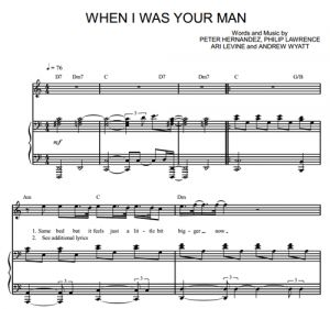 When I Was Your Man - Bruno Mars - partitura - Purple Market Area
