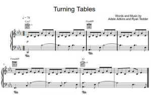 Turning Tables - Adele - partitura - Purple Market Area