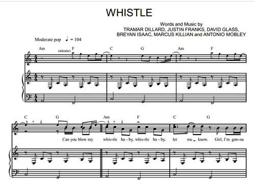 Скачать whistle baby flo rida.